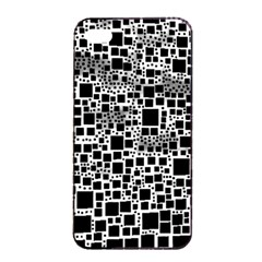 Block On Block, B&w Apple Iphone 4/4s Seamless Case (black) by MoreColorsinLife