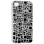 Block On Block, B&w Apple iPhone 4/4s Seamless Case (White)
