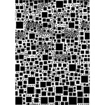 Block On Block, B&w Heart Bottom 3D Greeting Card (7x5) Inside