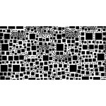 Block On Block, B&w BEST SIS 3D Greeting Card (8x4) Back
