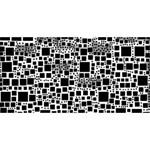 Block On Block, B&w Congrats Graduate 3D Greeting Card (8x4) Front