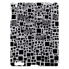 Block On Block, B&w Apple Ipad 3/4 Hardshell Case by MoreColorsinLife