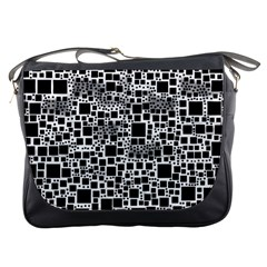 Block On Block, B&w Messenger Bags by MoreColorsinLife