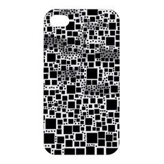Block On Block, B&w Apple Iphone 4/4s Premium Hardshell Case by MoreColorsinLife