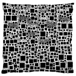 Block On Block, B&w Large Cushion Case (Two Sides) Back