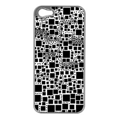 Block On Block, B&w Apple Iphone 5 Case (silver) by MoreColorsinLife