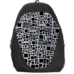 Block On Block, B&w Backpack Bag by MoreColorsinLife