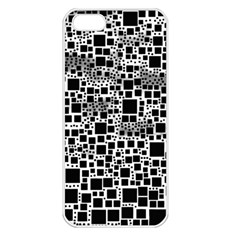 Block On Block, B&w Apple Iphone 5 Seamless Case (white) by MoreColorsinLife