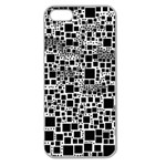 Block On Block, B&w Apple Seamless iPhone 5 Case (Clear) Front