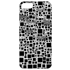 Block On Block, B&w Apple Iphone 5 Classic Hardshell Case by MoreColorsinLife
