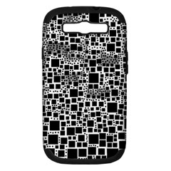Block On Block, B&w Samsung Galaxy S Iii Hardshell Case (pc+silicone) by MoreColorsinLife