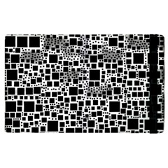 Block On Block, B&w Apple Ipad 2 Flip Case by MoreColorsinLife