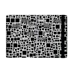 Block On Block, B&w Apple Ipad Mini Flip Case by MoreColorsinLife