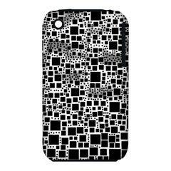 Block On Block, B&w Apple Iphone 3g/3gs Hardshell Case (pc+silicone) by MoreColorsinLife