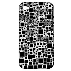 Block On Block, B&w Apple Iphone 4/4s Hardshell Case (pc+silicone) by MoreColorsinLife