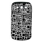 Block On Block, B&w Samsung Galaxy S III Classic Hardshell Case (PC+Silicone)