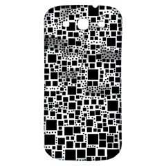 Block On Block, B&w Samsung Galaxy S3 S Iii Classic Hardshell Back Case by MoreColorsinLife