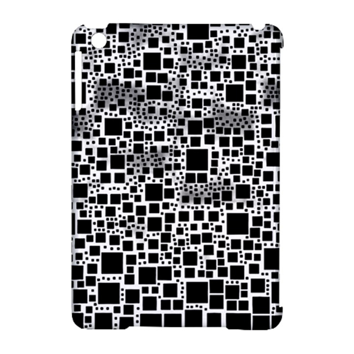 Block On Block, B&w Apple iPad Mini Hardshell Case (Compatible with Smart Cover)