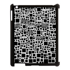 Block On Block, B&w Apple Ipad 3/4 Case (black) by MoreColorsinLife