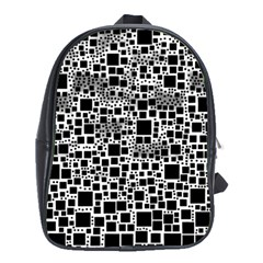 Block On Block, B&w School Bags (xl)  by MoreColorsinLife