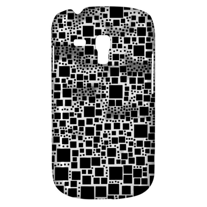 Block On Block, B&w Samsung Galaxy S3 MINI I8190 Hardshell Case