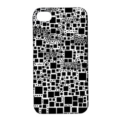 Block On Block, B&w Apple Iphone 4/4s Hardshell Case With Stand by MoreColorsinLife