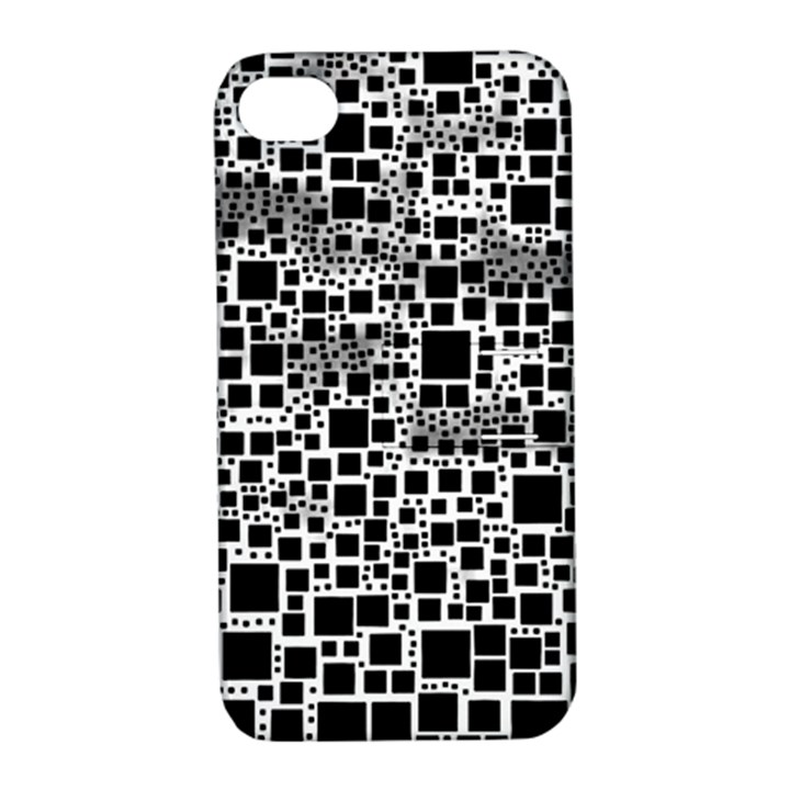 Block On Block, B&w Apple iPhone 4/4S Hardshell Case with Stand