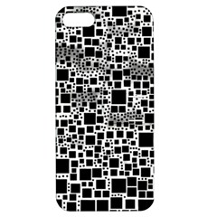 Block On Block, B&w Apple Iphone 5 Hardshell Case With Stand by MoreColorsinLife