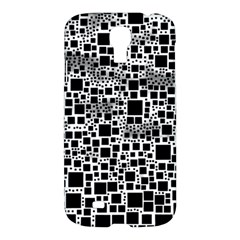 Block On Block, B&w Samsung Galaxy S4 I9500/i9505 Hardshell Case by MoreColorsinLife