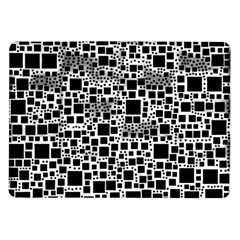Block On Block, B&w Samsung Galaxy Tab 10 1  P7500 Flip Case by MoreColorsinLife