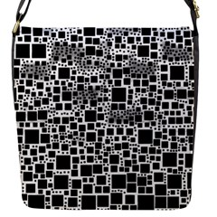 Block On Block, B&w Flap Messenger Bag (s)