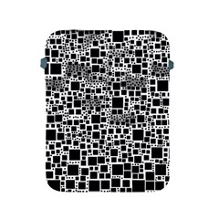 Block On Block, B&w Apple Ipad 2/3/4 Protective Soft Cases by MoreColorsinLife