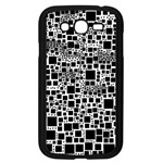 Block On Block, B&w Samsung Galaxy Grand DUOS I9082 Case (Black) Front