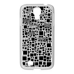 Block On Block, B&w Samsung Galaxy S4 I9500/ I9505 Case (white) by MoreColorsinLife