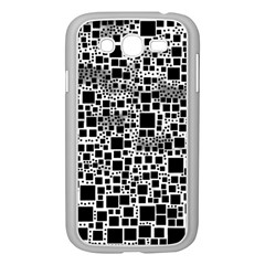 Block On Block, B&w Samsung Galaxy Grand Duos I9082 Case (white) by MoreColorsinLife