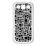 Block On Block, B&w Samsung Galaxy S3 Back Case (White) Front