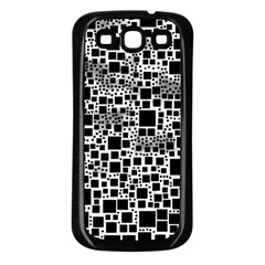 Block On Block, B&w Samsung Galaxy S3 Back Case (black) by MoreColorsinLife