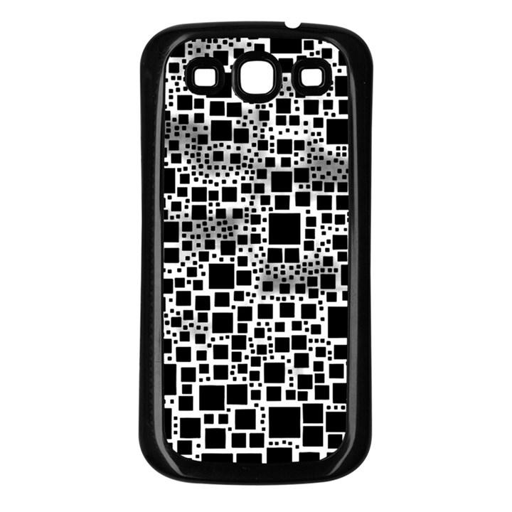 Block On Block, B&w Samsung Galaxy S3 Back Case (Black)