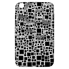 Block On Block, B&w Samsung Galaxy Tab 3 (8 ) T3100 Hardshell Case  by MoreColorsinLife