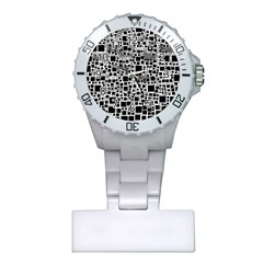Block On Block, B&w Plastic Nurses Watch