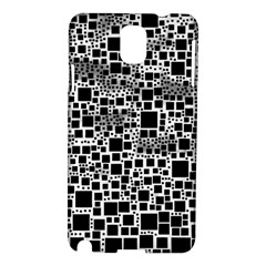 Block On Block, B&w Samsung Galaxy Note 3 N9005 Hardshell Case by MoreColorsinLife