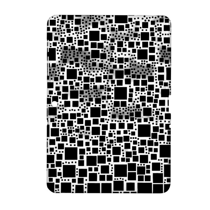 Block On Block, B&w Samsung Galaxy Tab 2 (10.1 ) P5100 Hardshell Case