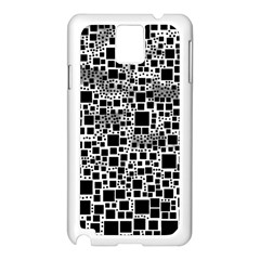 Block On Block, B&w Samsung Galaxy Note 3 N9005 Case (white) by MoreColorsinLife