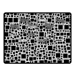 Block On Block, B&w Double Sided Fleece Blanket (Small)  45 x34 Blanket Back