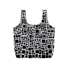 Block On Block, B&w Full Print Recycle Bags (s)  by MoreColorsinLife