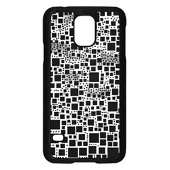 Block On Block, B&w Samsung Galaxy S5 Case (black) by MoreColorsinLife