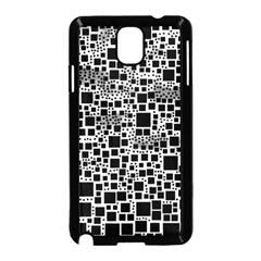 Block On Block, B&w Samsung Galaxy Note 3 Neo Hardshell Case (black) by MoreColorsinLife