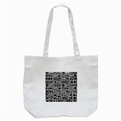 Block On Block, B&w Tote Bag (white) by MoreColorsinLife