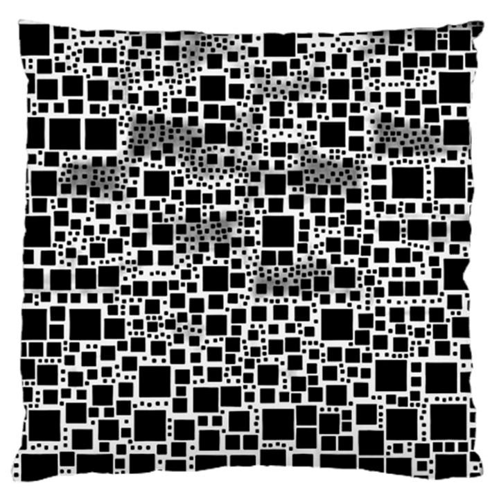 Block On Block, B&w Standard Flano Cushion Case (One Side)