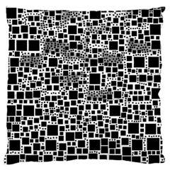 Block On Block, B&w Large Flano Cushion Case (one Side)